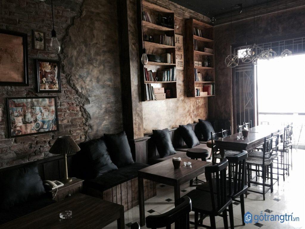 Thiết kế nội thất quán cà phê đẹp phong cách Vintage. (ảnh: internet)