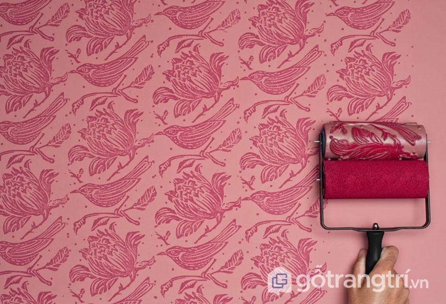 Sơn hoa văn - Dòng sơn nội thất làm mới căn nhà trong dịp Giáng Sinh (Ảnh: Internet)