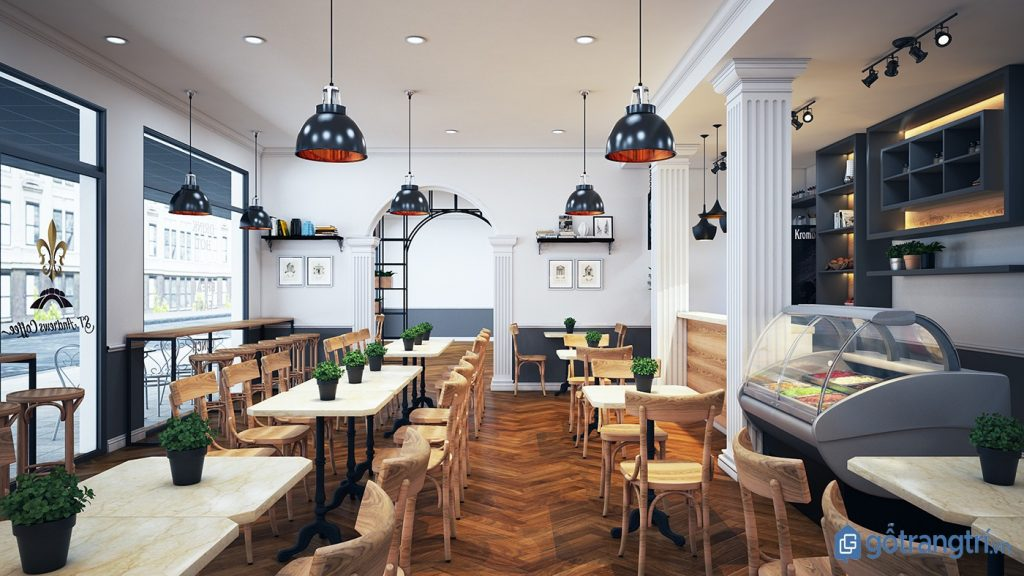 Sắp xếp bàn ghế quán cà phê đảm bảo lối đi rộng rãi. (ảnh: internet)
