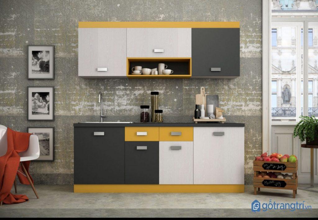 Kệ bếp chữ I là giải pháp tối ưu nhất cho những căn bếp thông minh, hiện đại. (ảnh: internet)
