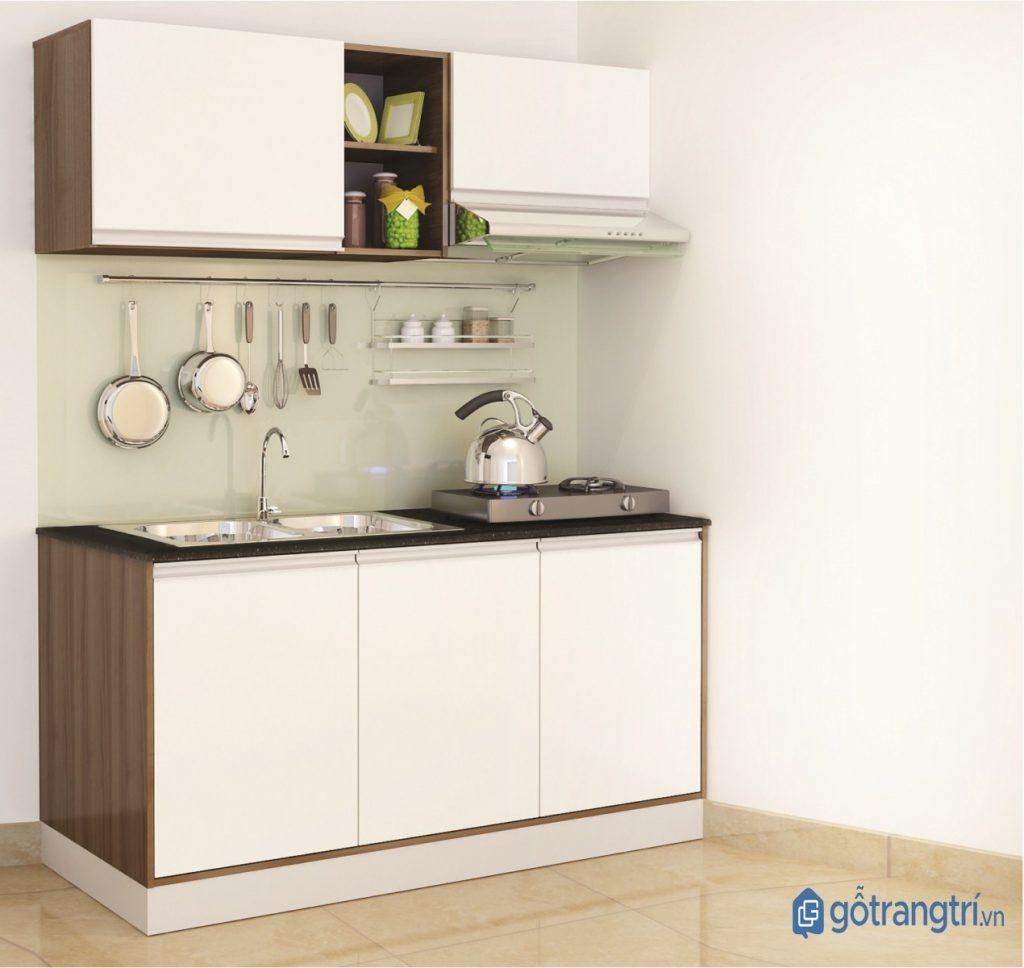 Kệ bếp chữ I đảm bảo công năng đối với một căn bếp thông minh. (ảnh: internet)