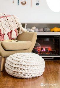 Sự kết hợp hoàn hảo của len và nội thất - Ảnh internet