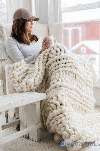 Vào mùa đông, len chính là thứ vật liệu trang trí không gian rất hot - Ảnh internet