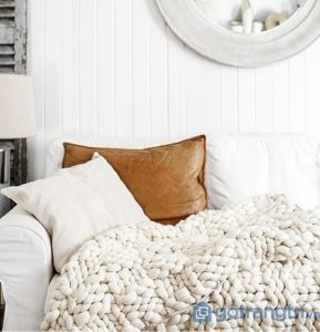 Sử dụng len trong trang trí không gian khiến căn phòng trở nên ấn tượng hơn - Ảnh internet
