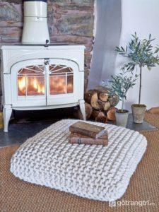 Trang trí không gian bằng đồ nội thất len - Ảnh internet