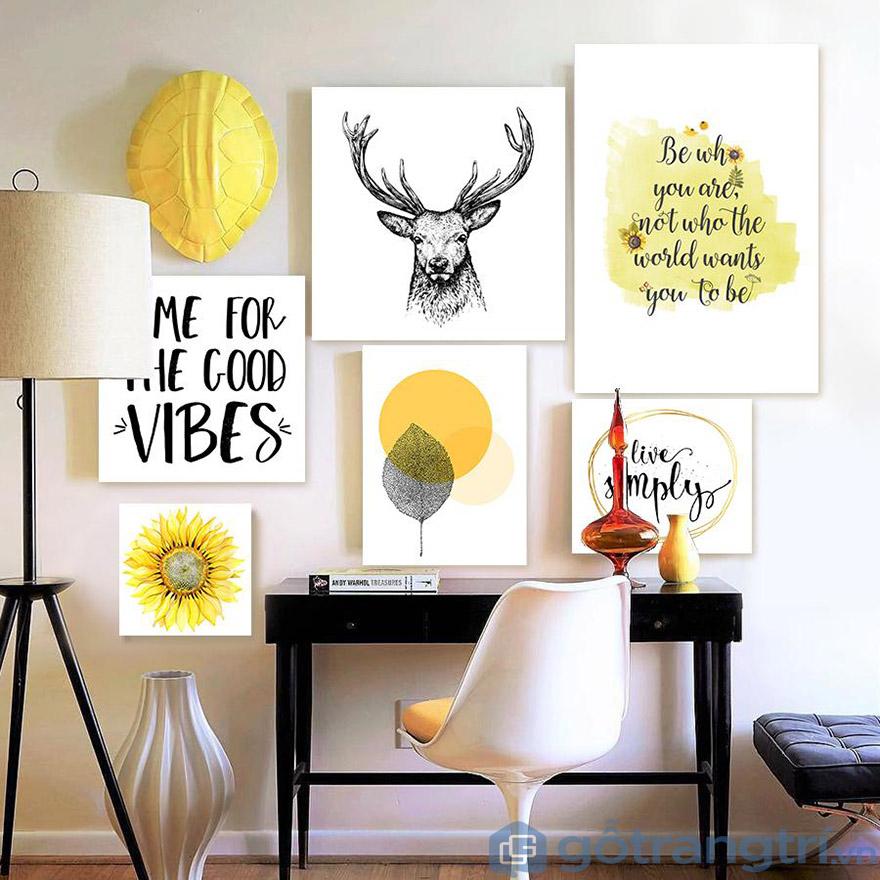Chọn tranh cần chú ý đến độ hài hòa khi kết hợp với nội thất