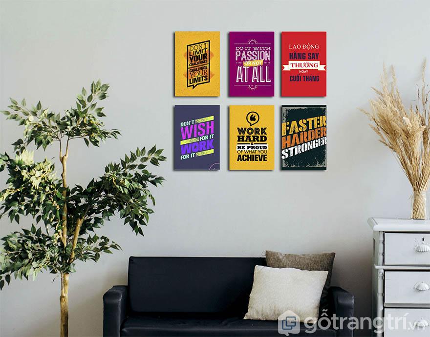 Bạn hoàn toàn có thể tự lên ý tưởng để chọn lựa những mẫu tranh trang trí văn phòng