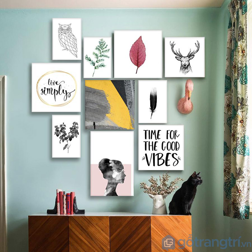 Tự tính toán vị trí và kích thước khi chọn mua tranh trang trí văn phòng