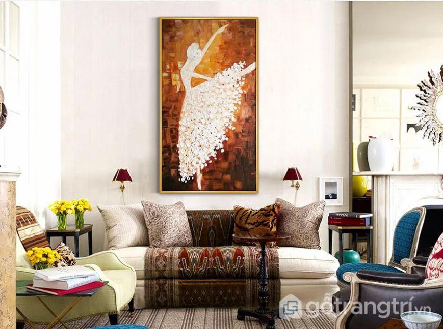 Trang trang trí mang đậm sự sáng tạo cho phòng khách