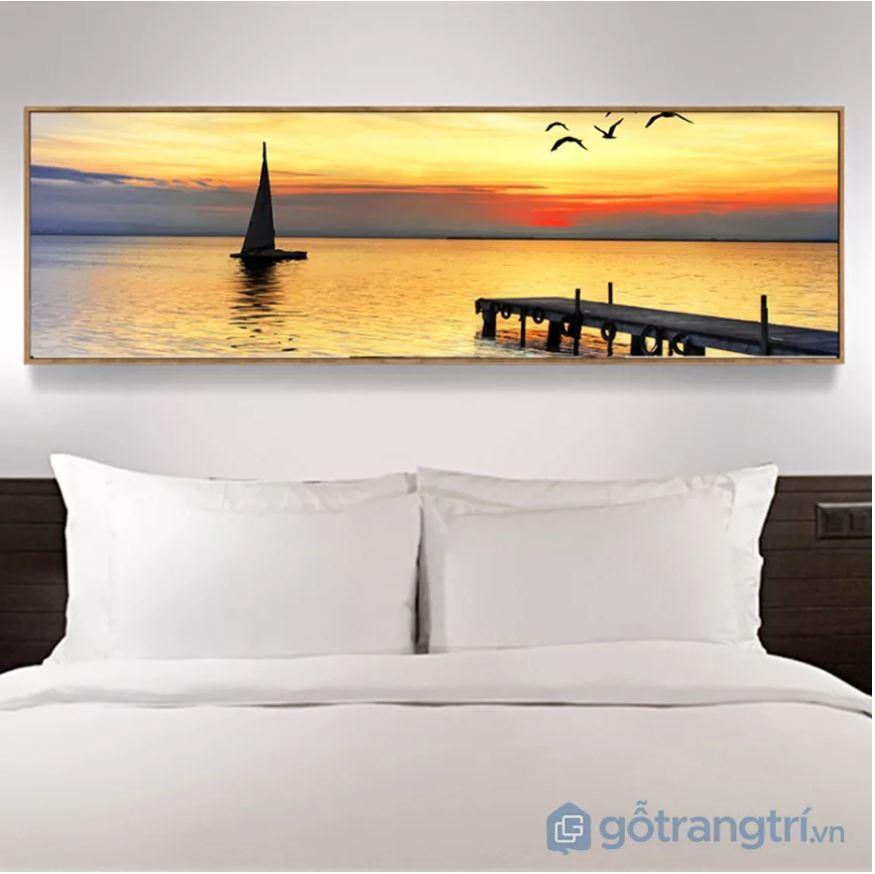 Tranh trang trí hình chữ nhật cho phòng ngủ thêm ấm cúng