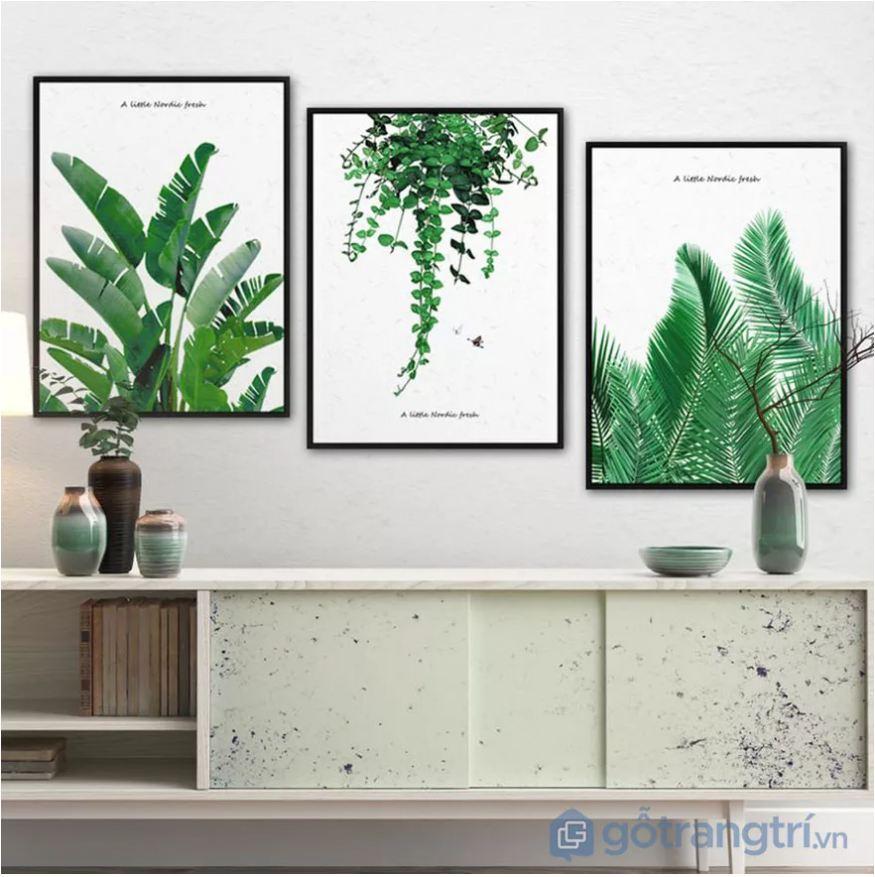 Tranh về phong cảnh, cây cối luôn mang lại sự sáng tạo và không gian xanh cho bạn