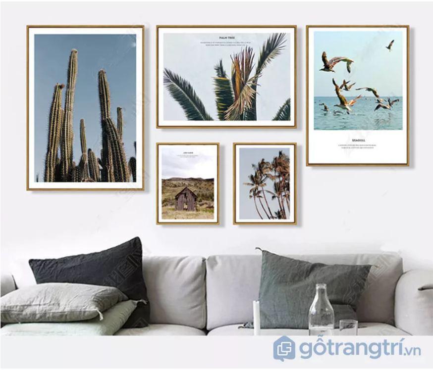 Thoải mái sáng tạo với những mẫu tranh trang trí phòng khách về phong cảnh