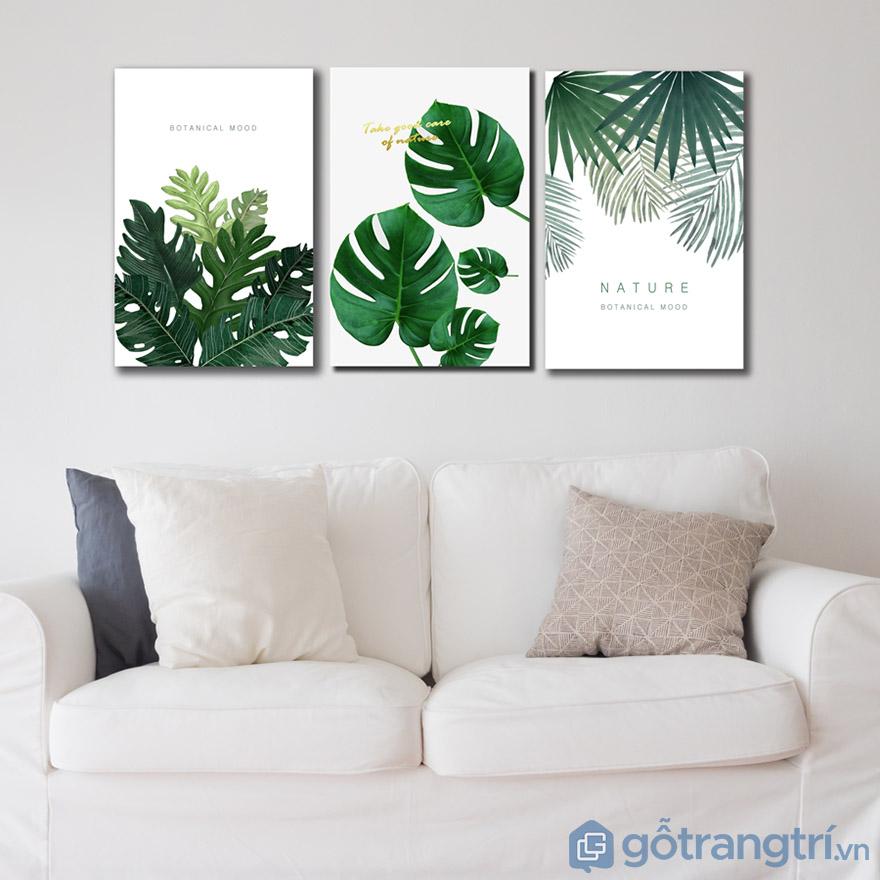 Màu xanh chủ đạo tạo nên sự tươi mới cho phòng khách gia đình bạn