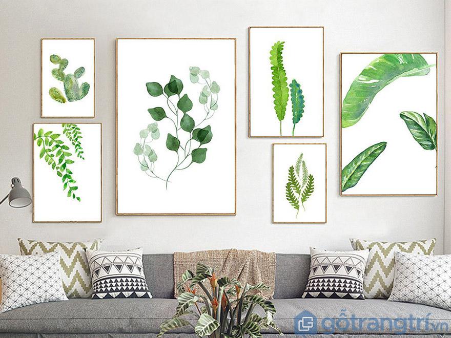 Tranh bộ về cây cối là lựa chọn hàng đầu tạo không gian gần gũi với thiên nhiên (Nguồn internet)