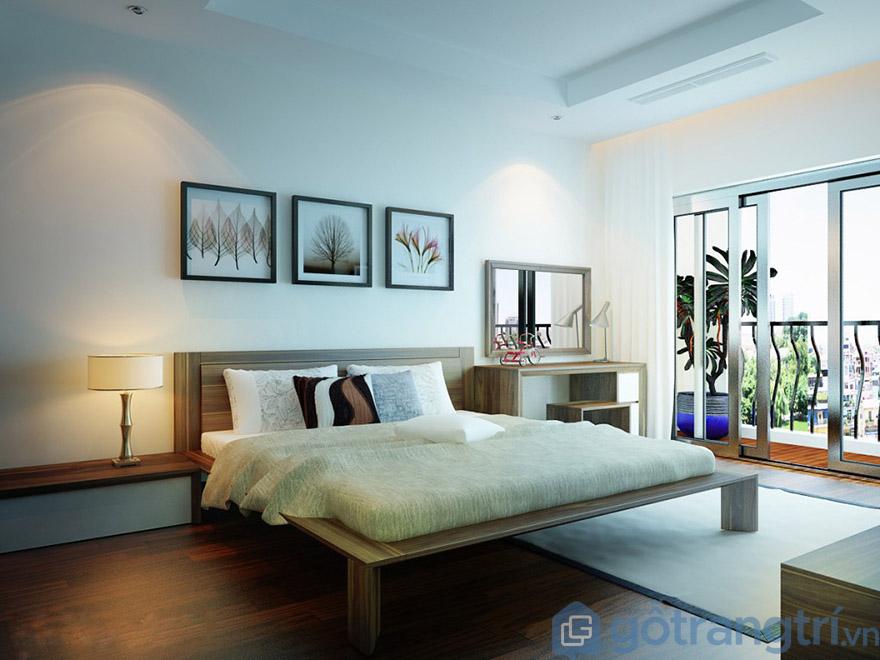 Kết hợp tranh treo tường kích thước nhỏ tạo không gian phòng ngủ vừa sáng tạo, vừa ấm cúng(Nguồn internet)
