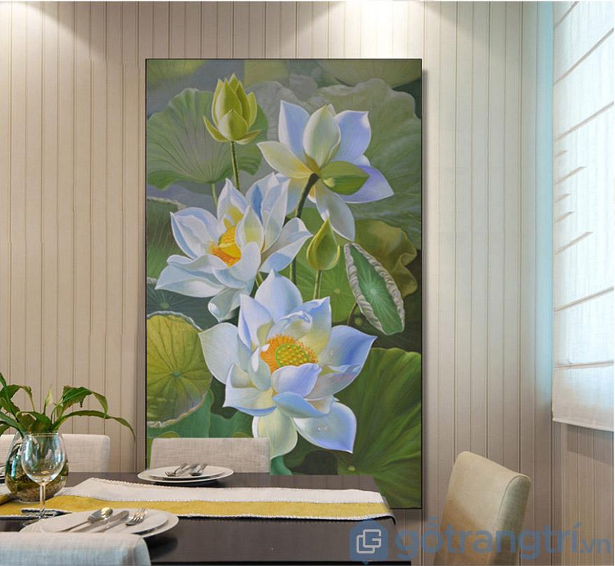 Lựa chọn những mẫu tranh màu sắc trang nhã cho không gian phòng bếp