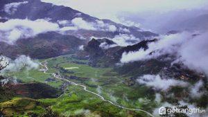 Khung cảnh nhìn từ đỉnh của đèo Khau Phạ - Ảnh internet