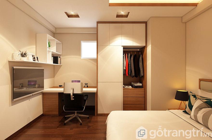 Kết hợp và có sự đồng bộ giữa các đồ nội thất trong phòng