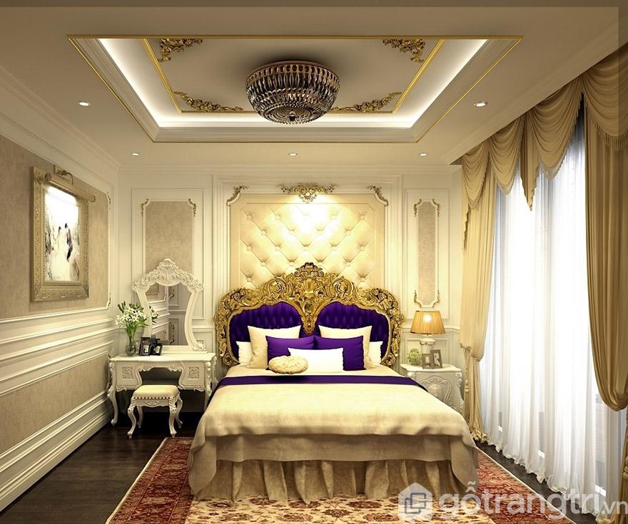 Sử dụng đồ nội thất cổ điển tạo sự sang trọng cho không gian phòng ngủ