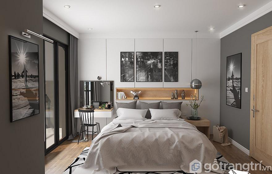 Tone màu đơn giản, thiết kế tinh tế kết hợp với đồ nội thất tạo sự mới lạ cho không gian