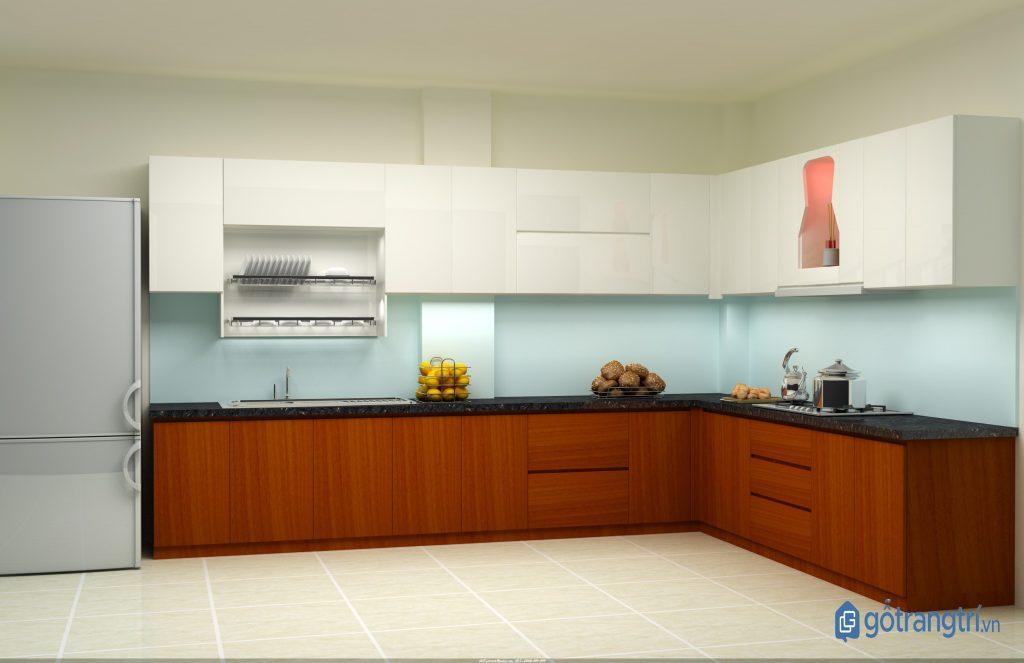 Gỗ MDF lõi xanh chống ẩm được tin dùng trong nội thất phòng bếp. (ảnh: internet)