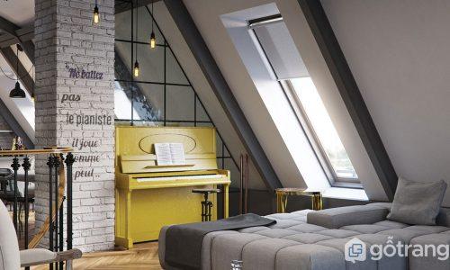 Thiết kế tường lộ gạch - Ý tưởng vi diệu làm mới căn phòng khách