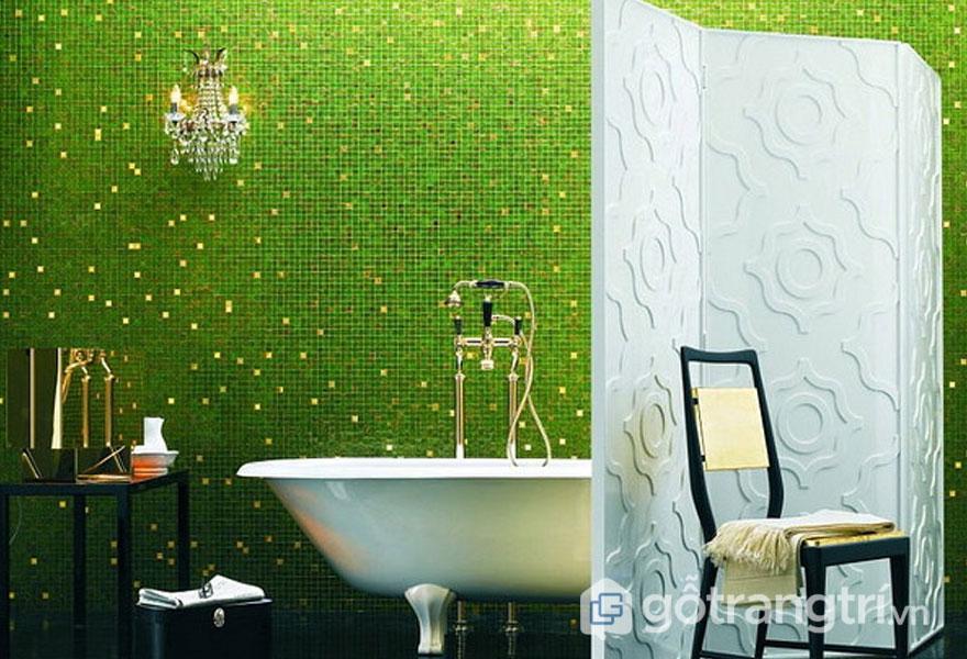Gạch mosaic ốp lát tường phòng tắm - Ảnh: Internet
