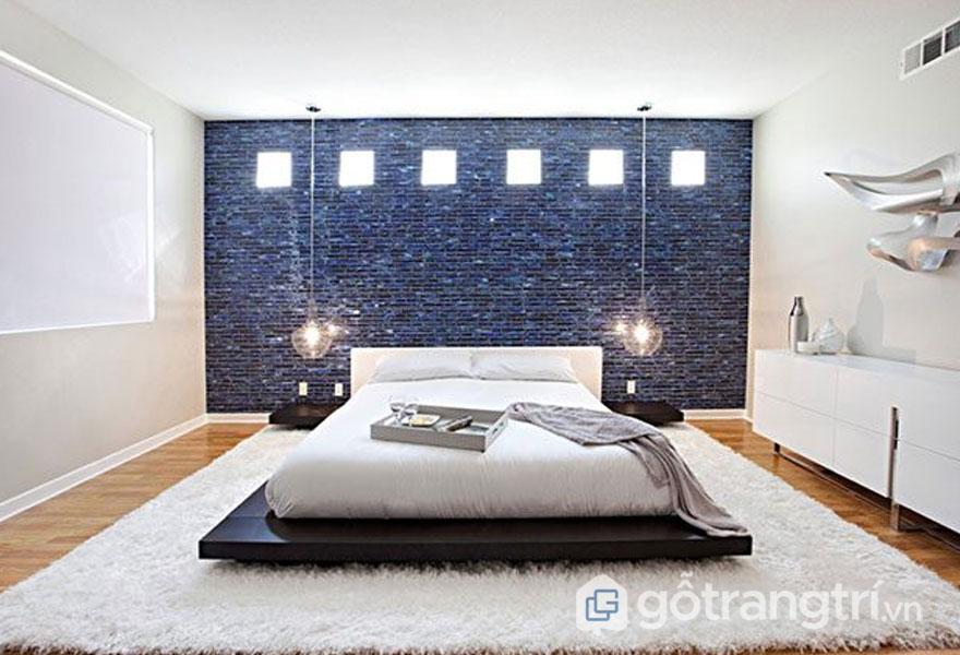 Gạch mosaic ốp tường phòng ngủ lộng lẫy- Ảnh: Internet