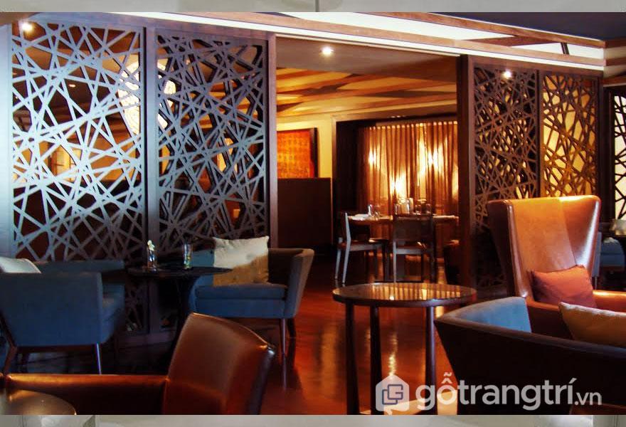 Vách ngăn sắt nghệ thuật tạo sự khác biệt cho nhà hàng, khách sạn - Ảnh: Internet