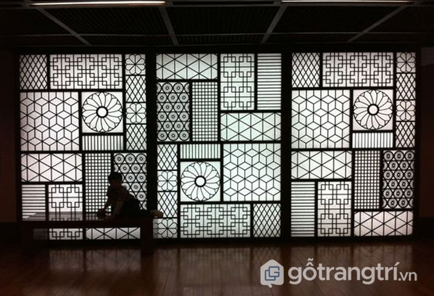 Tấm vách nghệ thuật ngăn cách không gian giữa 2 phòng với nhau - Ảnh: Internet