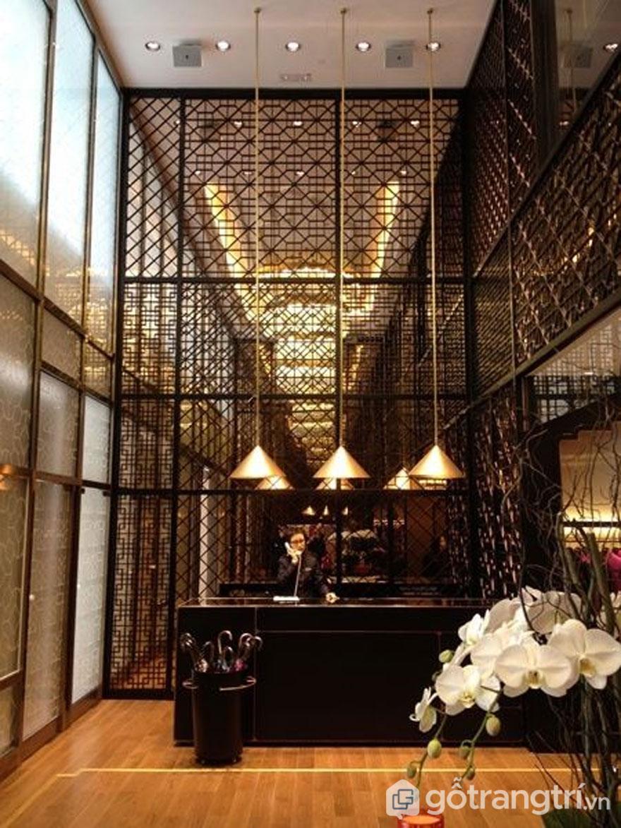 Tấm vách ngăn nghệ thuật dùng trong khách sạn - Ảnh: Internet