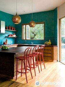 Không gian nội thất nổi bật với màu xanh dương - Ảnh internet