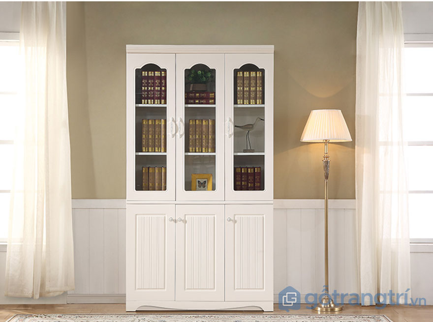 Tủ tài liệu đứng màu trắng hiện đại