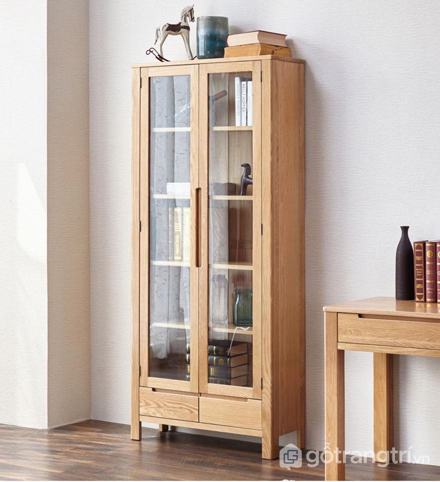 Tủ tài liệu gỗ tự nhiên có tính thẩm mỹ cao