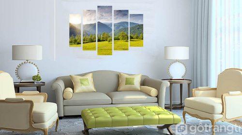 [ Ý tưởng ] 15+ mẫu tranh phong cảnh đẹp ấn tượng, tạo sức hút cho không gian phòng khách