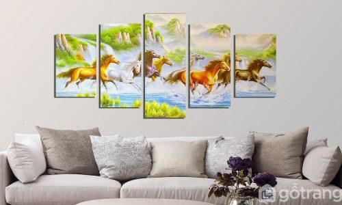 30+ mẫu tranh vải treo tường đẹp xuất chúng, sáng bừng mọi góc không gian