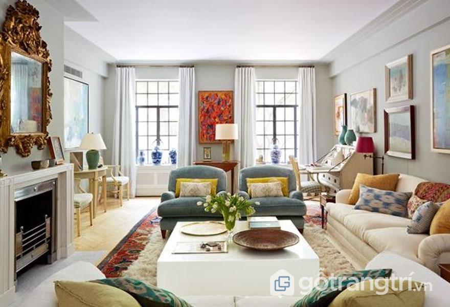 Phòng khách đậm chất art deco trong thiết kế nội thất (Ảnh: Internet)