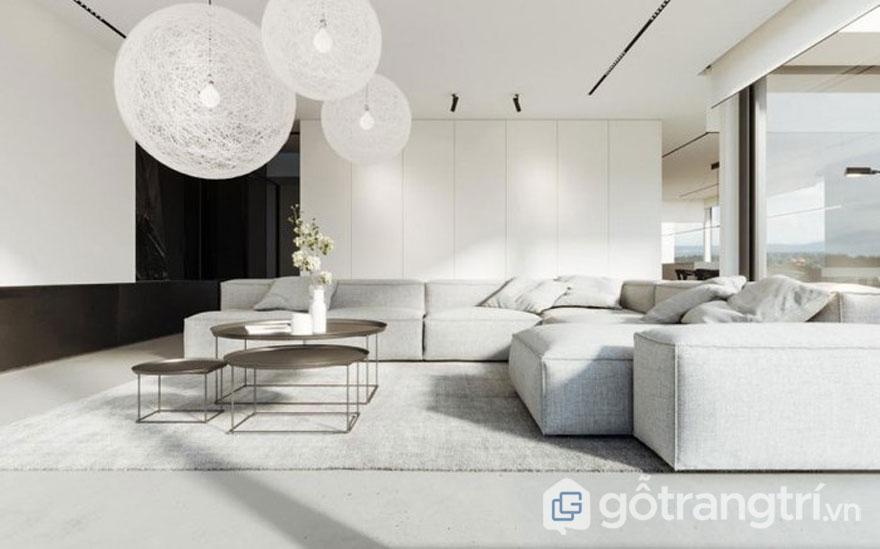 Trong căn phòng này với sắc màu đơn giản là màu trắng, và đen kết hợp đan xen tạo nên sự sang trọng, hiện đại và sự gọn gàng, tối giản (Ảnh: Internet)