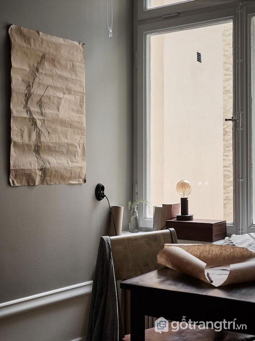 Nghệ thuật wabi sabi trong thiết kế nội thất sử dụng tông màu tự nhiên (Ảnh: Internet)