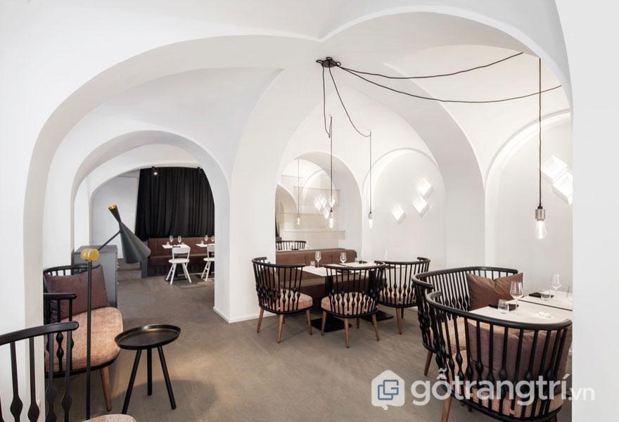 Tiết kế trang trí nhà hàng (Ảnh: Internet)
