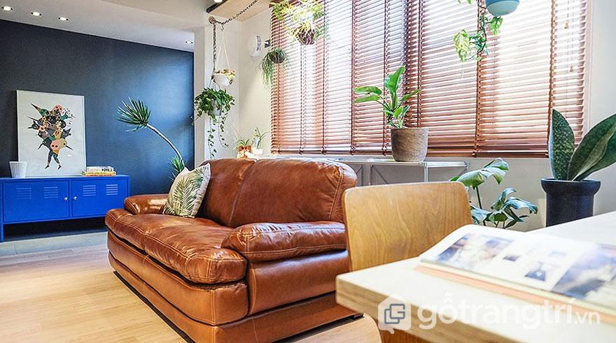 Rèm cửa dạng mành hay sử dụng thiết kế nhà theo phong cách retro (Ảnh: Internet)