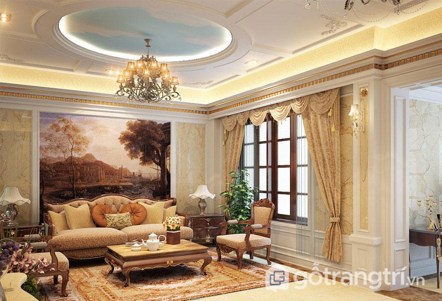 Căn phòng khách này được thiết kế vô cùng lộng lẫy, xa hoa (Ảnh: Internet)