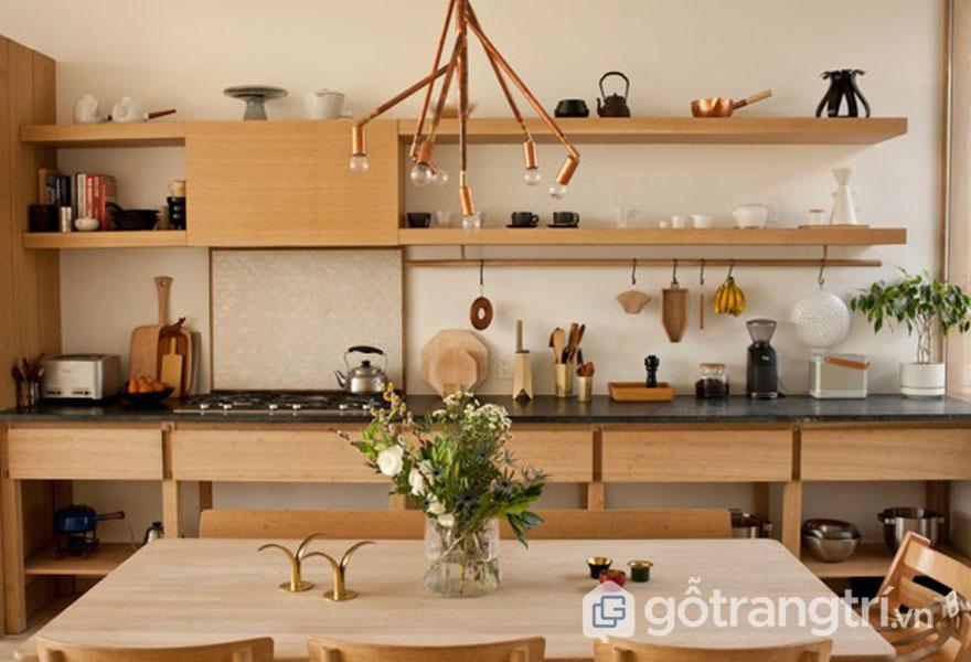 Căn bếp thiết kế khá là độc đáo, gọn gàng (Ảnh: Pinterest)
