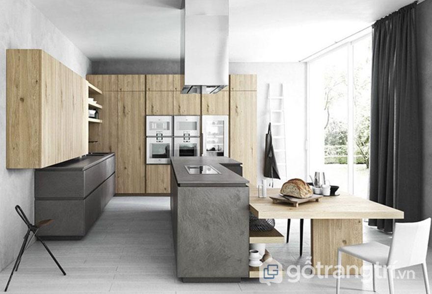 Căn bếp được sử dụng tông màu trung tính (Ảnh: Pinterest)