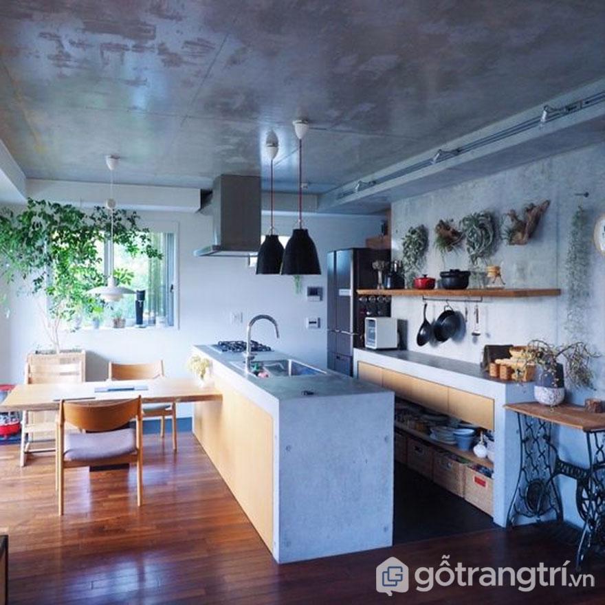 Cây xanh không thể thiếu trong gian bếp người Nhật (Ảnh: Pinterest)