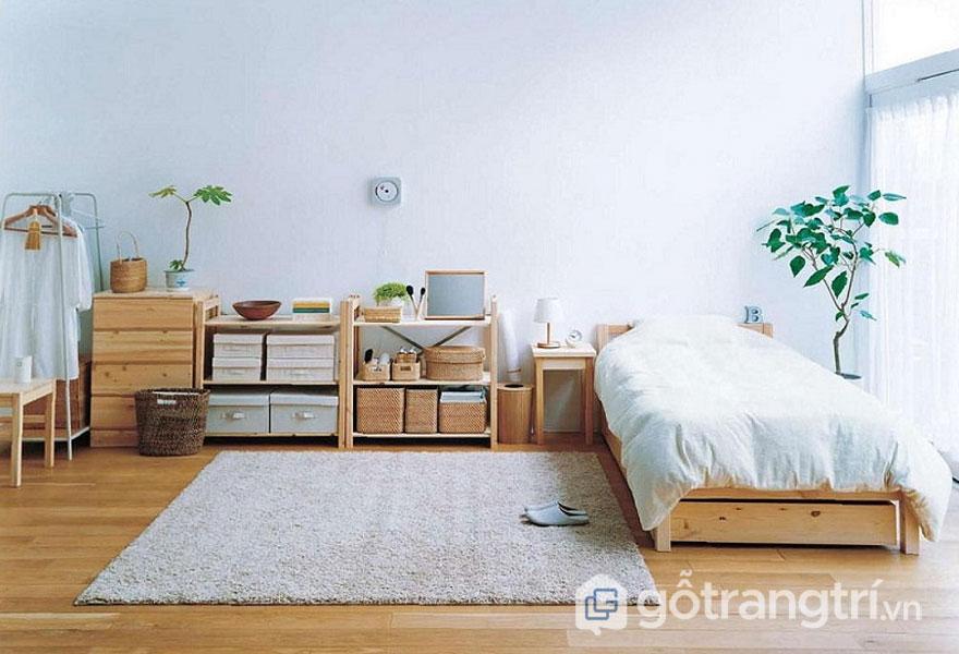 Phòng ngủ thiết kế khá gọn gàng (Ảnh: Internet)