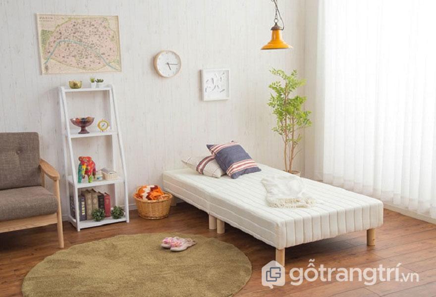 Giường ngủ của người Nhật thiết kế khá thấp (Ảnh: Internet)