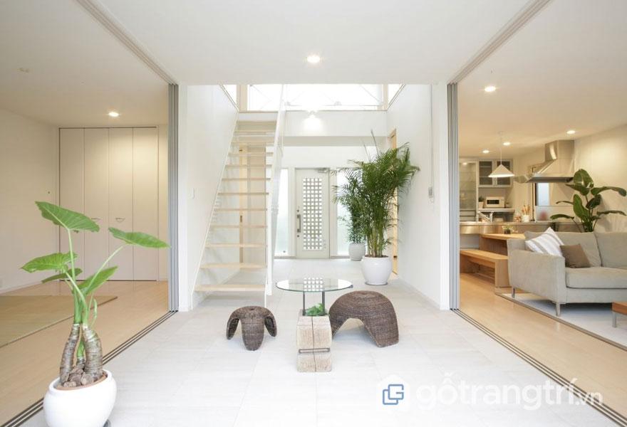 Mẫu thiết kế nội thất biệt thự theo phong cách zen đẹp tinh khiết, an nhiên (Ảnh: Internet)