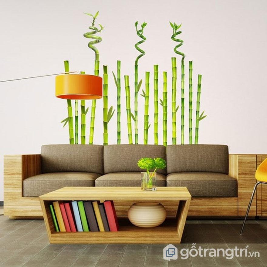 Sự xuất hiện của tre trong thiết kế nội thất zen (Ảnh: Internet)
