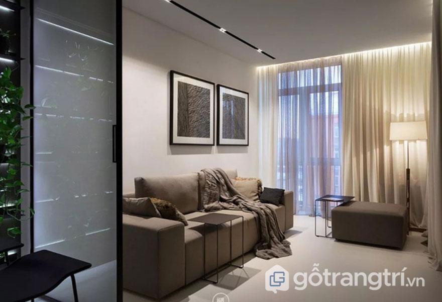 Sự ấm cúng cho phòng khách với ánh đèn chiếu sáng (Ảnh: Internet)